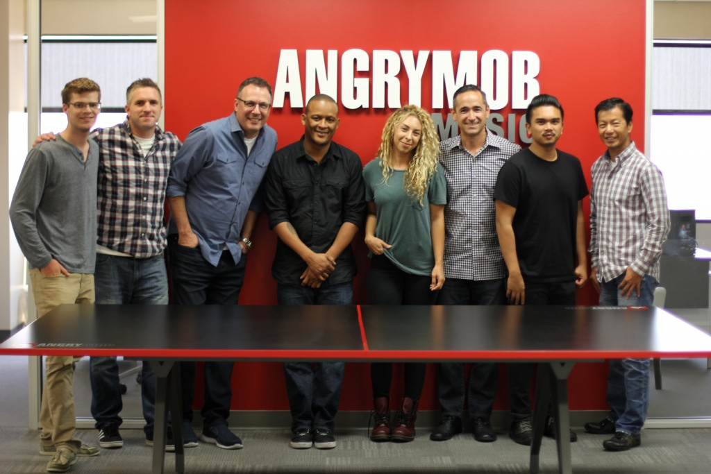 Songwriter Allison Kaplan with the Angry Mob team