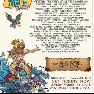 Pepper In Vans Warped Tour 2016 Lineup